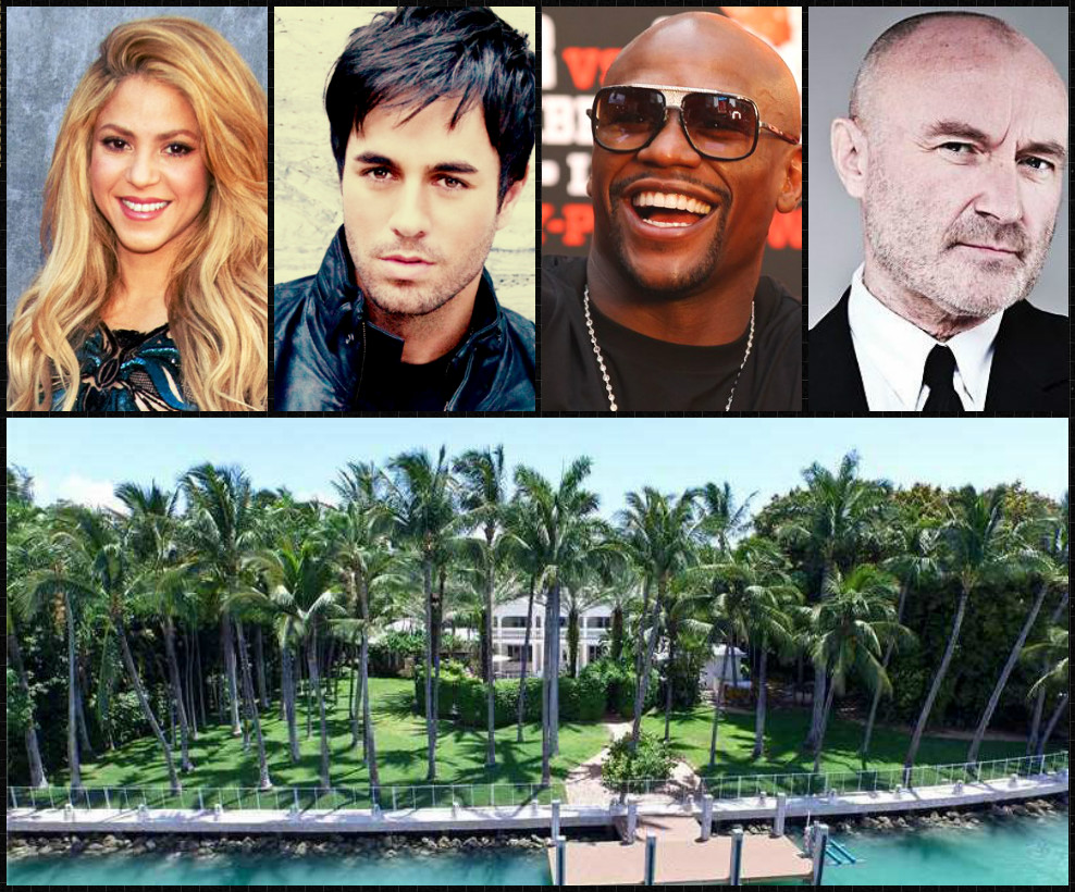 Celebrities homes collage